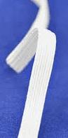 Flat Elastic Cord 6mm and 8mm  (Item no. 93747)